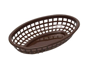 "1074BR Tablecraft Products - Classic Basket 9-3/8"" x 6"" x 1-7/8"""