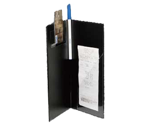 "CHK-1K Winco - Check Holder, 10"" x 5-1/2"", grooved spine"