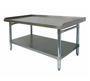 "ES-E3048 GSW USA - Economy Equipment Stand, 1"" upturn on 3 sides"