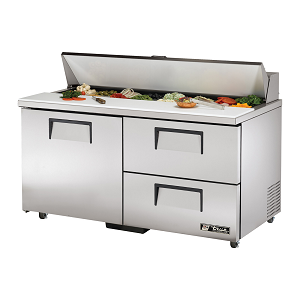 "TSSU-60-16D-2-ADA True - ADA Compliant Sandwich/Salad Unit (16) 1/6 size (4""D) poly pans"