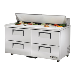 "TSSU-60-16D-4-ADA True - ADA Compliant Sandwich/Salad Unit (16) 1/6 size (4""D) poly pans"