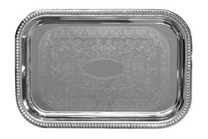 "CT-1812B Update International - Tray, 18"" x 12"", oblong, chrome plated"