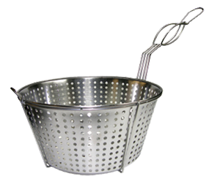 FB-11/SS Update International - Fry Basket round 11 1/2'' dia 6'' deep stainless steel