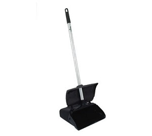 "LDPC-12BP Update International - Lobby Dust Pan, 11"" x 12-5/8"" x 4-1/4"" black plastic hopper"