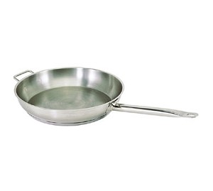 SFP-14 Update International - Fry Pan S/S 14 in with Rivet Long Hdl & Helper Hdl / Natural Finish