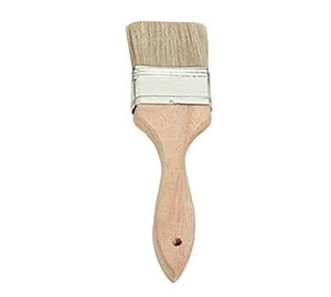 "WPBM-20 Update International - Pastry Brush, 2"" flat, boar bristles, wood handle with metal ferrule"