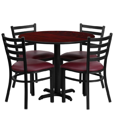 HDBF1006 Flash Furniture - HDBF1006-GG Table & Chair Set (1) round 36