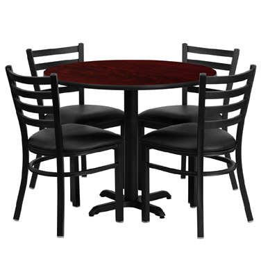 HDBF1030 Flash Furniture - HDBF1030-GG Table & Chair Set (1) round 36