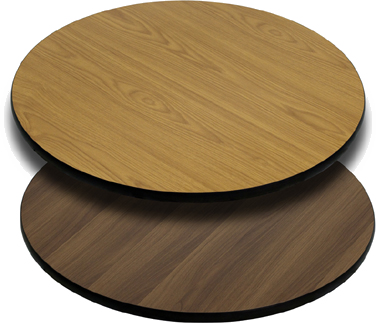 T24RNW Flash Furniture - XU-RD-24-WNT-GG Reversible Table Top round 24