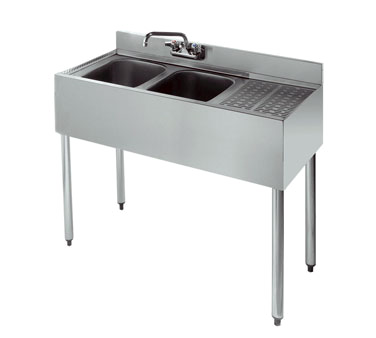 18-32L Krowne Metal - Standard 1800 Series Underbar Sink Unit two compartment