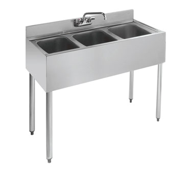 18-33 Krowne Metal - Standard 1800 Series Underbar Sink Unit three compartment