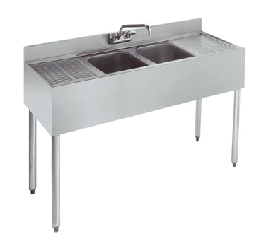 18-42C Krowne Metal - Standard 1800 Series Underbar Sink Unit two compartment