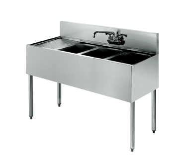 21-43R Krowne Metal - Standard 2100 Series Underbar Sink Unit three compartment