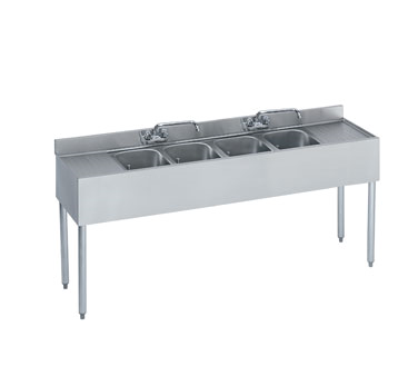 18-64C Krowne Metal - Standard 1800 Series Underbar Sink Unit four compartment