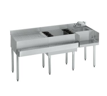 18 W66r 7 Krowne Metal Standard 1800 Series Drainboard Ice Bin Blender Station