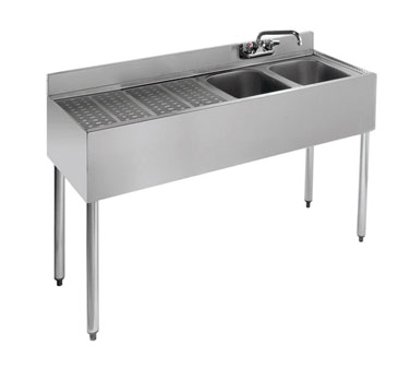 18-42R Krowne Metal - Standard 1800 Series Underbar Sink Unit two compartment