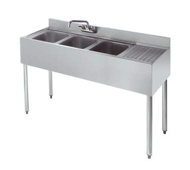 18-43L Krowne Metal - Standard 1800 Series Underbar Sink Unit three compartment