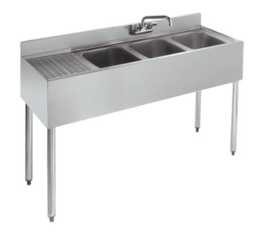 18-43R Krowne Metal - Standard 1800 Series Underbar Sink Unit three compartment