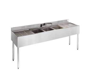 21-63C Krowne Metal - Standard 2100 Series Underbar Sink Unit three compartment