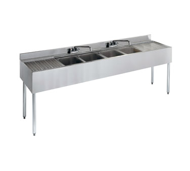 21-74C Krowne Metal - Standard 2100 Series Underbar Sink Unit four compartment