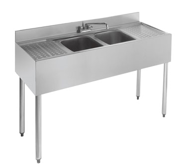 21-42C Krowne Metal - Standard 2100 Series Underbar Sink Unit two compartment