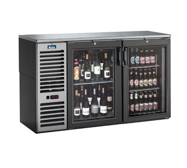 BS60L Krowne Metal - Refrigerated Back Bar Storage Cabinet two section