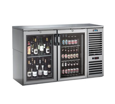BS60R Krowne Metal - Refrigerated Back Bar Storage Cabinet two section