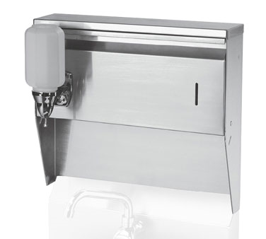 H-111 Krowne Metal - Towel & Soap Dispenser for wall mount hand sinks