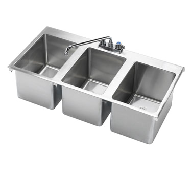 HS-3819 Krowne Metal - Drop-In Hand Sink three compartment