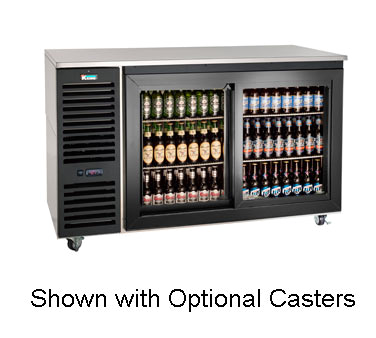 SD60L Krowne Metal - Sliding Door Refrigerated Back Bar Storage Cabinet two section