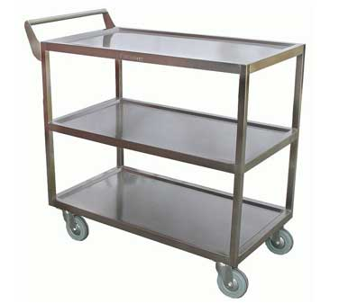 C-4111 GSW USA - Bus Cart, heavy duty, (3) shelves with 10