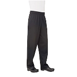 NBBP000L Chef Works - Essential Baggy Pants elastic waistband with drawstring