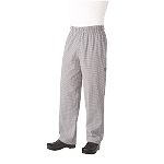 NBCP0004XL Chef Works - Essential Baggy Pants elastic waistband with drawstring