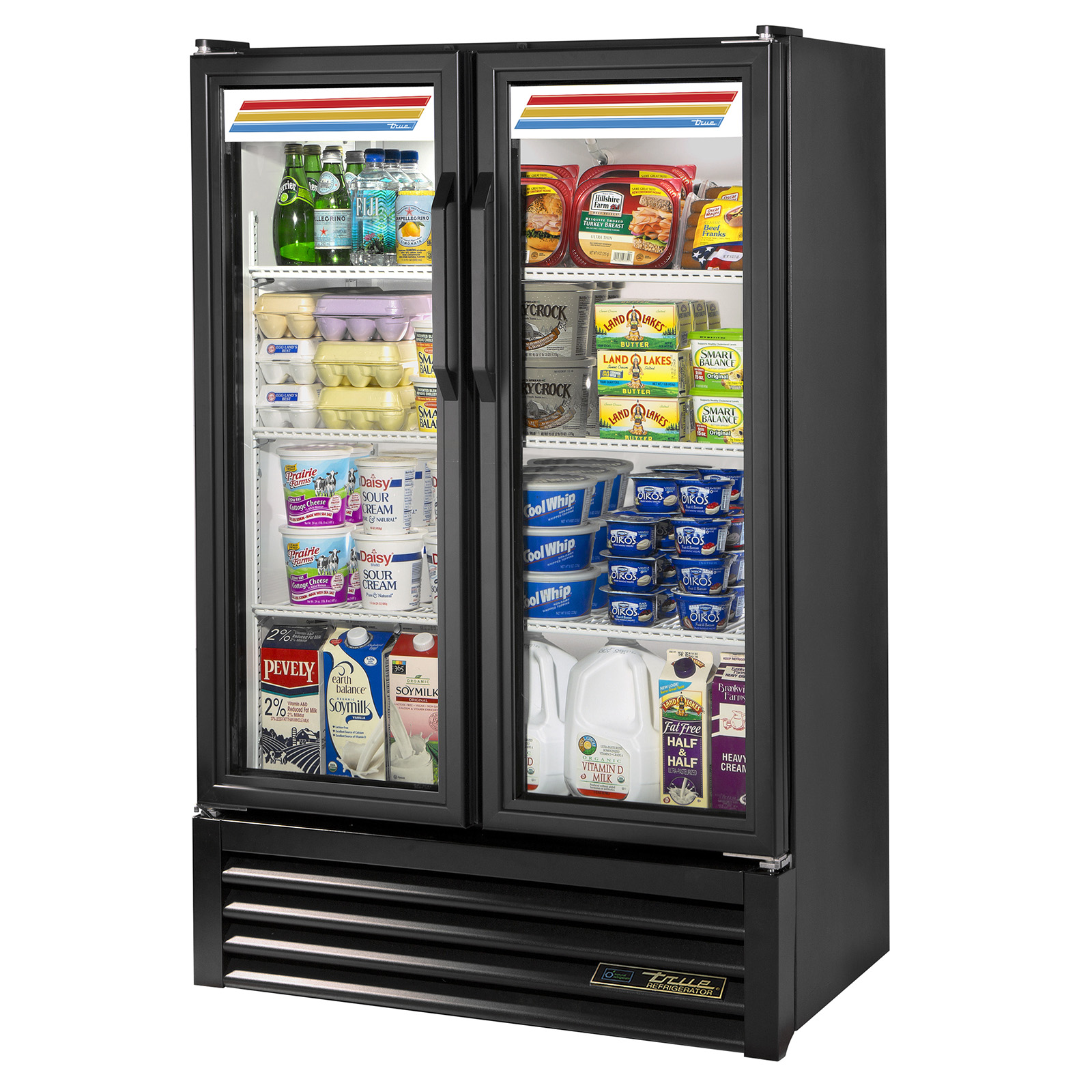 GDM-36SL-HC-LD True - Slim Line Refrigerated Merchandiser two-section