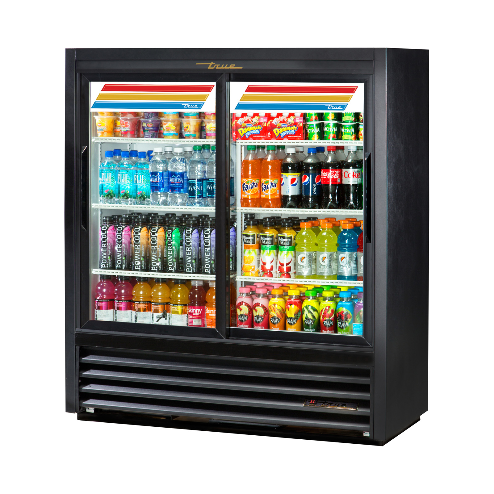 GDM-41SL-54-HC-LD True - Convenience Store Cooler two-section
