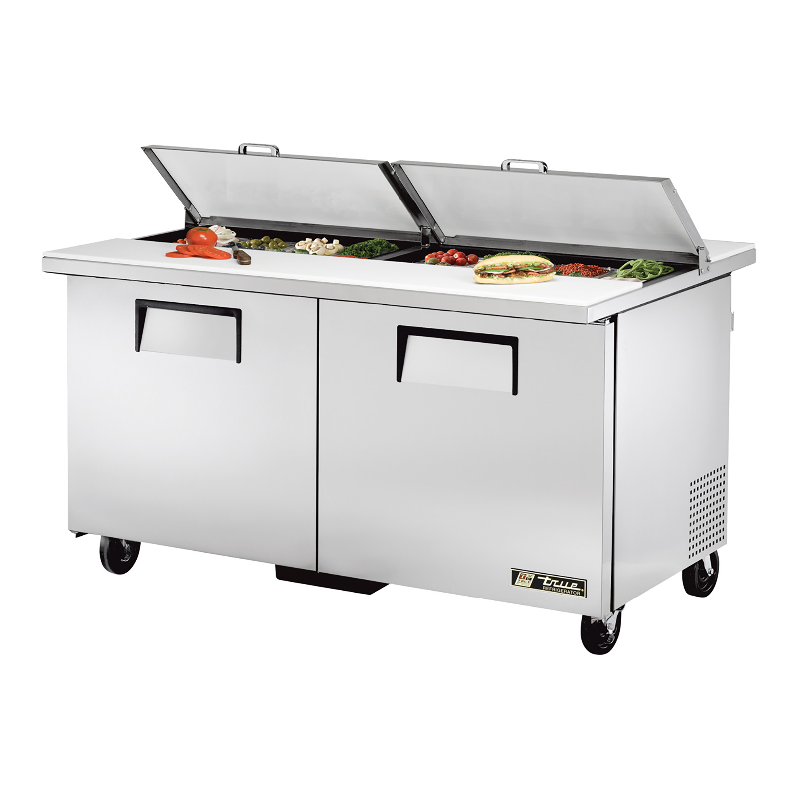 TSSU-60-16-DS-ST True - Dual Side Sandwich/Salad Unit (16) 1/6 size (4