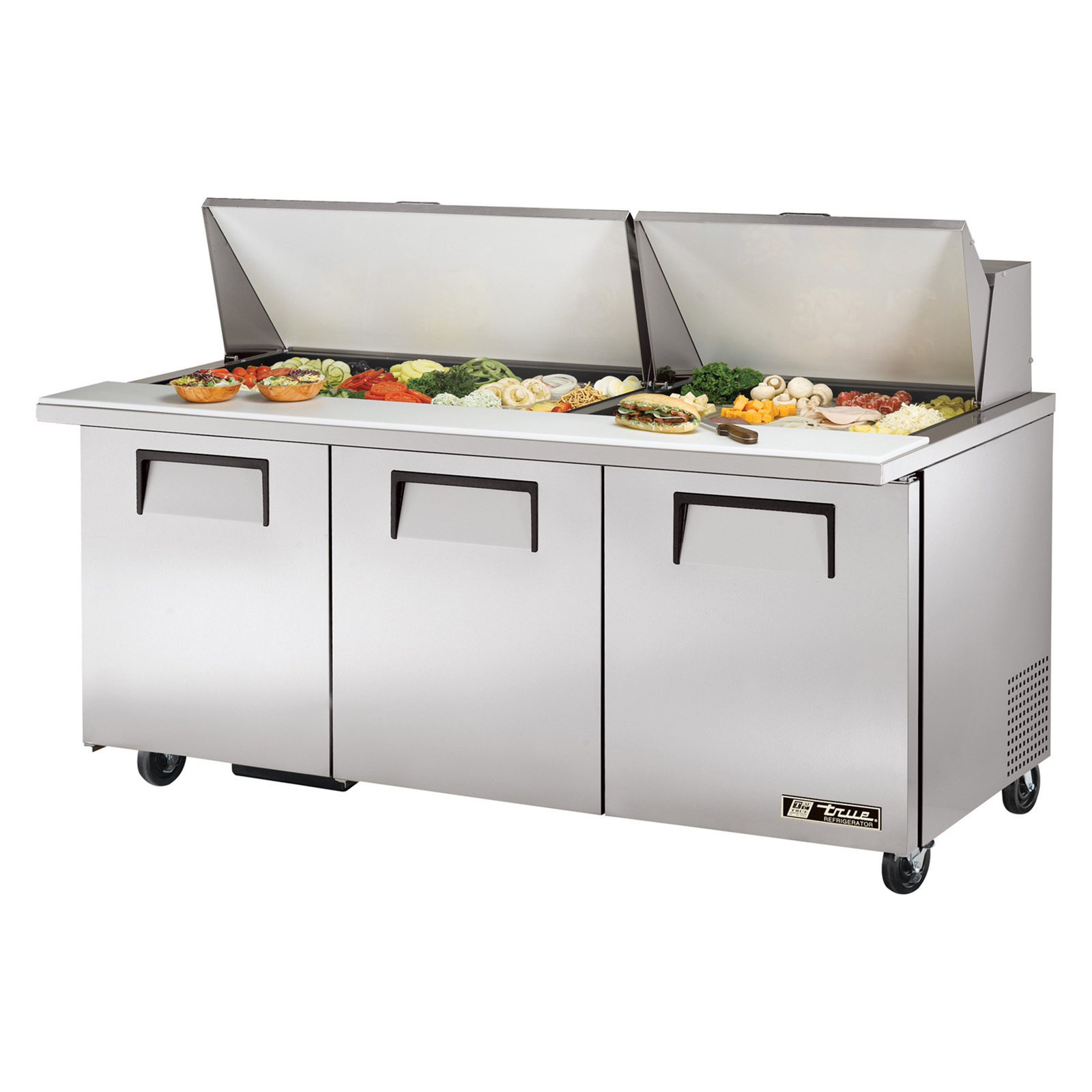 TSSU-72-30M-B-ST True - Mega Top Sandwich/Salad Unit (30) 1/6 size (4