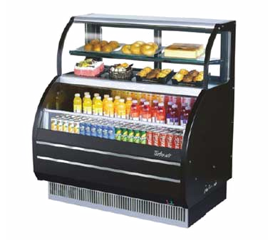 TOM-W-60SB - Open Display Merchandiser with Refrigerated Top Shelf Combination Case