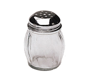 SK-RPF Update International - Swirl Shaker, 6 oz., perforated, glass with chrome plated metal top