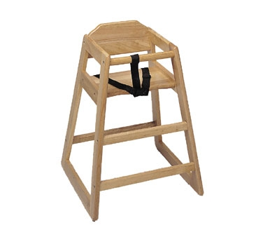 WD-HC Update International - High Chair, infant, heavy duty, light wood finish, (KD)