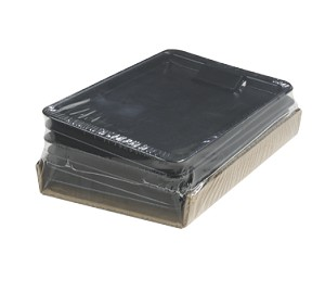 "3020-803 Carlisle - Check Holder/Tip Tray, 4-3/8"" x 7-3/4"", styrene, black, NSF"