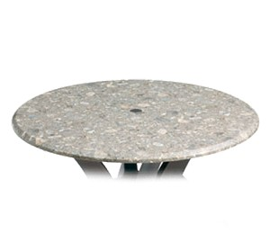 "99881004 Grosfillex - Indoor/Outdoor Table Top 42"" round with umbrella hole"