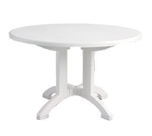 "US243104 Grosfillex - Aquaba Pedestal Table 48"" round balcony legs"
