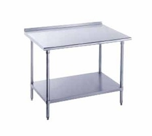 "FMG-369 Advance Tabco -Work Table 36"" wide top with turned up edge at rear"
