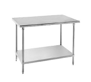 "SS-249 Advance Tabco -Work Table 24"" wide top"