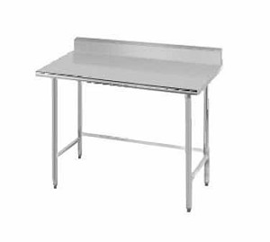 "TKMS-369 Advance Tabco -Work Table 36"" wide top with splash at rear only"