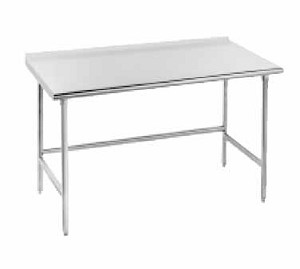 "TFSS-249 Advance Tabco -Work Table 24"" wide top with turned up edge at rear"