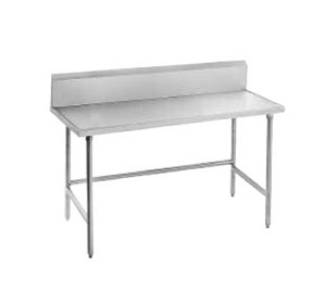 "TVKG-369 Advance Tabco -Work Table 36"" wide top with splash at rear only"