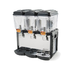 CD3J Eurodib USA - Cofrimell Juice Dispenser (3) 3.2 gallon (12 liters) removable polycarbonate bowls