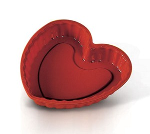 "SFT210 Eurodib USA - Uniflex Silicone Collection Heart Mold 8-5/8""L x 8-1/2""W x 1-1/4""H"